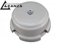 Коробка распаячная монтажная фарфоровая, цвет bianco (белый), серебристый колпачок