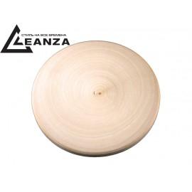 """Рамка деревянная, """"прямая"""", большая, одноместная круглая (d-100mm)"""