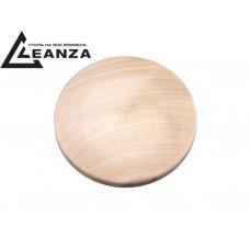 """Рамка деревянная, """"прямая"""", малая, одноместная круглая (d-85mm)"""