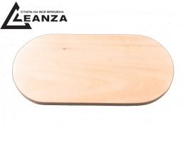 """Рамка деревянная, """"прямая"""", двухместная овальная (170х85 мм)"""