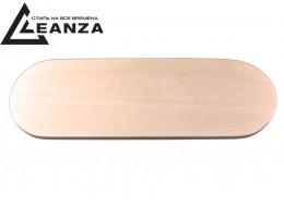 "Рамка деревянная, ""прямая"", трехместная овальная (255х85 мм)"