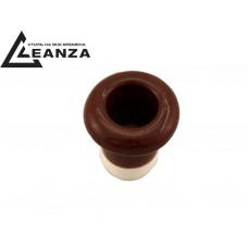 Втулка межстеновая фарфоровая, цвет bruno (коричневый)