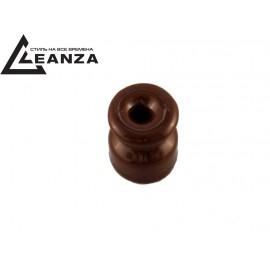 Изолятор фарфоровый, цвет bruno (коричневый)