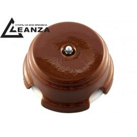 Коробка распаячная монтажная фарфоровая, цвет bruno (коричневый), серебристый колпачок