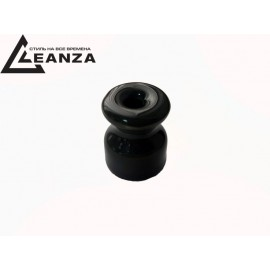Изолятор фарфоровый, цвет nero (черный)
