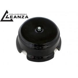 Коробка распаячная монтажная фарфоровая, цвет nero (черный), серебристый колпачок