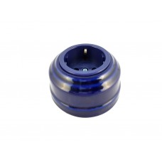 Розетка фарфоровая с/з, цвет azzurra (лазурный), серебристая фурнитура