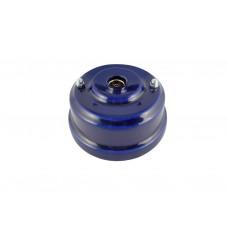 Розетка телевизионная оконченная фарфоровая, цвет azzurra (лазурный), серебристая фурнитура