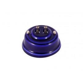 Выключатель двухрычажковый фарфоровый, цвет azzurra (лазурный), тумблер бронза