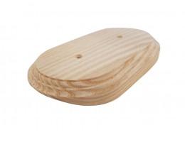 Рамка деревянная фигурная двухпостовая (110х190mm) на бревно 280 мм