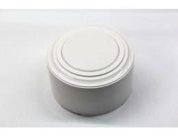 Пластиковая распаячная коробка (белая заглушка, белая рамка, белый стакан)