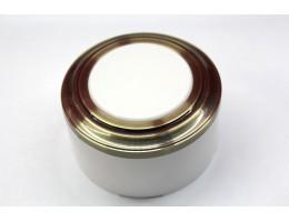 Пластиковая распаячная коробка (белая заглушка, бронзовая рамка, белый стакан)
