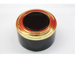 Пластиковая распаячная коробка (черная заглушка, золотая рамка, черный стакан)