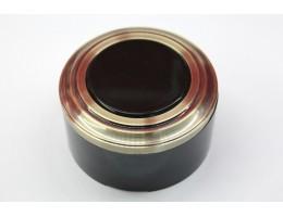Пластиковая распаячная коробка (черная заглушка, бронзовая рамка, черный стакан)