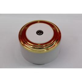 TV-розетка (белый механизм, золото рамка, белый стакан)