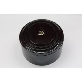 TV-розетка (черный механизм, черная рамка, черный стакан)