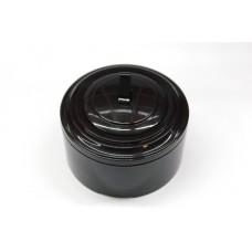 Пластиковый выключатель однорычажковый (черный механизм, черная рамка, черный стакан)