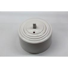 Пластиковый выключатель однорычажковый с индикатором (белый механизм, белая рамка, белый стакан)
