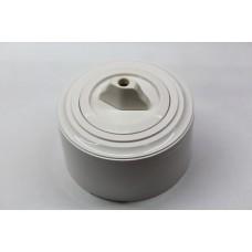 Пластиковый поворотный выключатель двухклавишный (белый механизм, белая рамка, белый стакан)