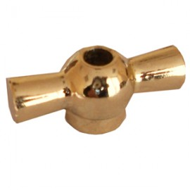 Металлический тумблер поворотного выключателя (золото)