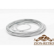 Провод круглый 2х2,5 серебристый шелк
