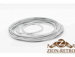 Провод круглый 2х0,75 серебристый шелк