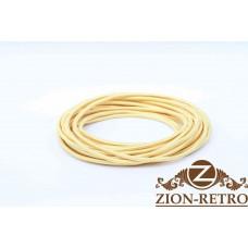 Провод круглый 3х2,5 золотой шелк