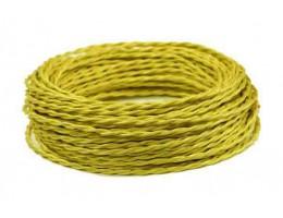 Провод витой шелк желтый 2х1,5