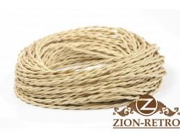 Провод витой шелк песочный (карамельный) 2х1,5
