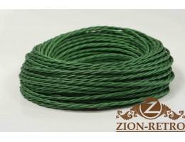 Провод витой шелк зеленый 3х1,5
