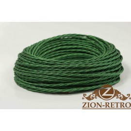 Провод витой шелк зеленый 2х1,5