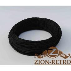 Ретро провод черный 2х2,5