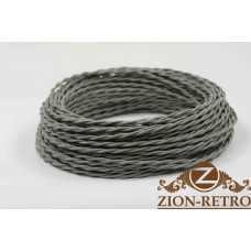 Ретро провод серый 2х2,5