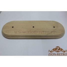 Деревянная рамка трёхместная