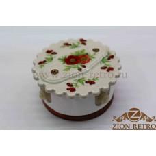 """Комбинированная распаячная коробка с фигурной крышкой в стиле ретро, """"Лето"""", подрозетник вишня"""