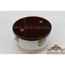 """Комбинированная распаячная коробка с круглой крышкой в стиле ретро, """"Шоколад"""", подрозетник береза"""
