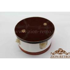 """Комбинированная распаячная коробка с круглой крышкой в стиле ретро, """"Шоколад"""", подрозетник вишня"""