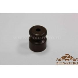 Пластиковый изолятор темно-коричневый